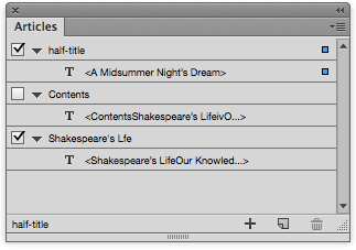 Using articles, you can select what is left out of the ePub