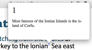 We can get popup text from the footnotes