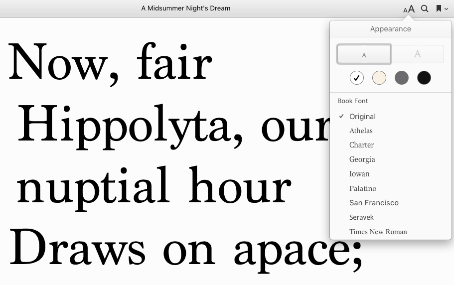 The largest text size with iBooks