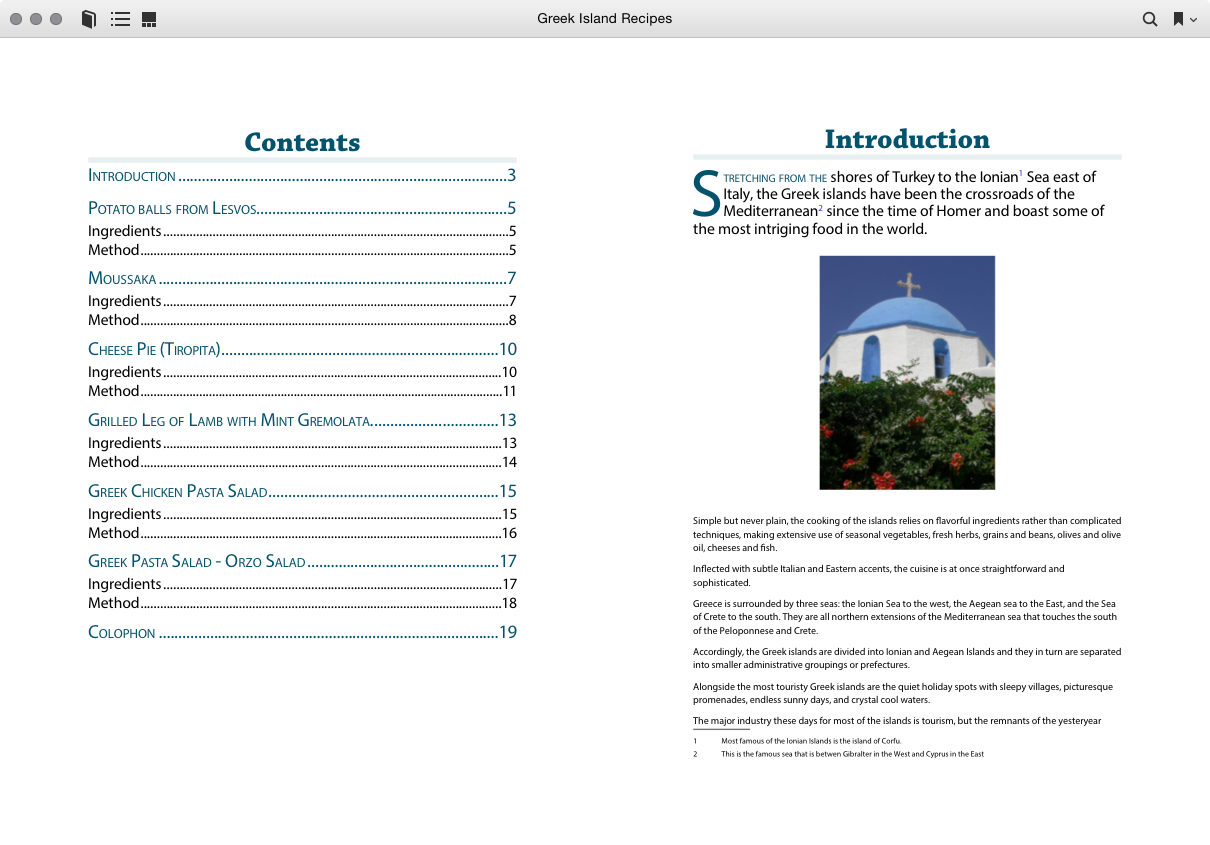Sample spread eBook