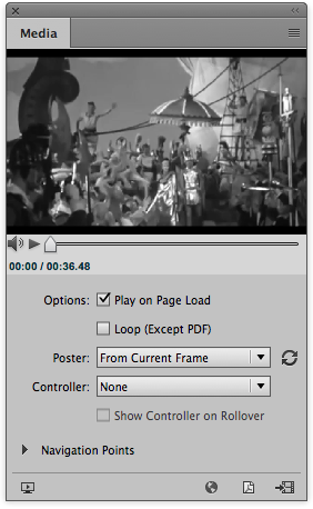 The play on page load tick box