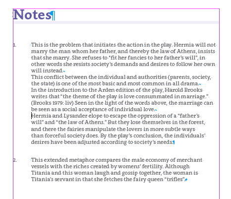 The notes are at th endo of the eBook under their own heading but they also work as popup notes.
