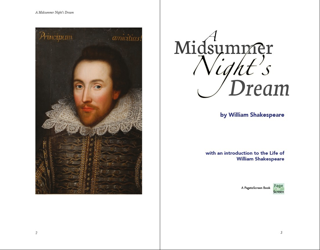 The title page uses some cover design elements