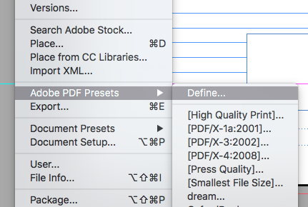 Define an Adobe PDF Preset