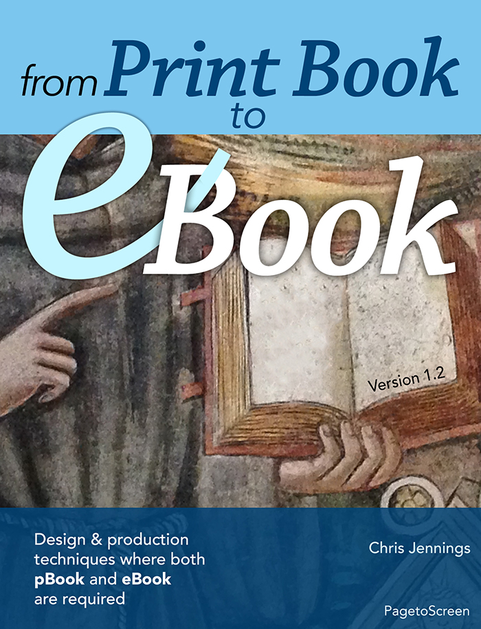 The cover for 'From Print Book to eBook'