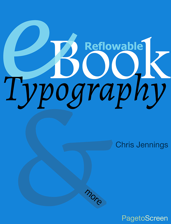 eBook Typography - the cover image