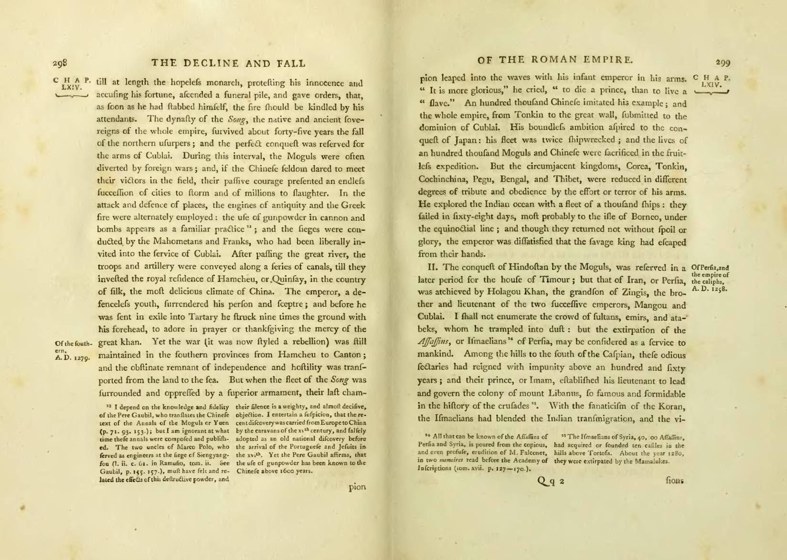 Image result for edward gibbon footnotes