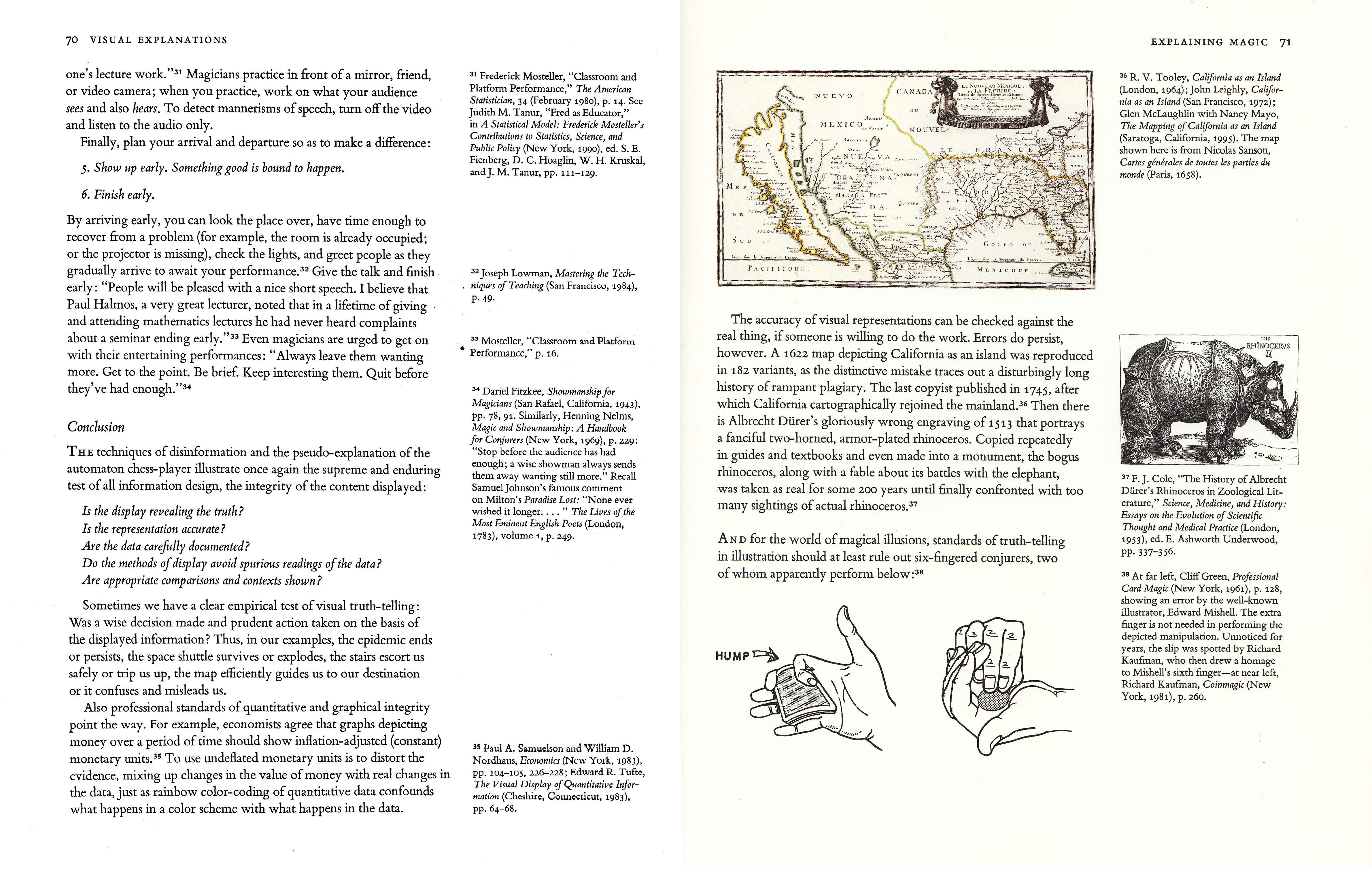 a spread from _Visual Explanations_, Edward R. Tufte