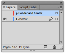 Hide some elemnts in InDesign by hiding the layer