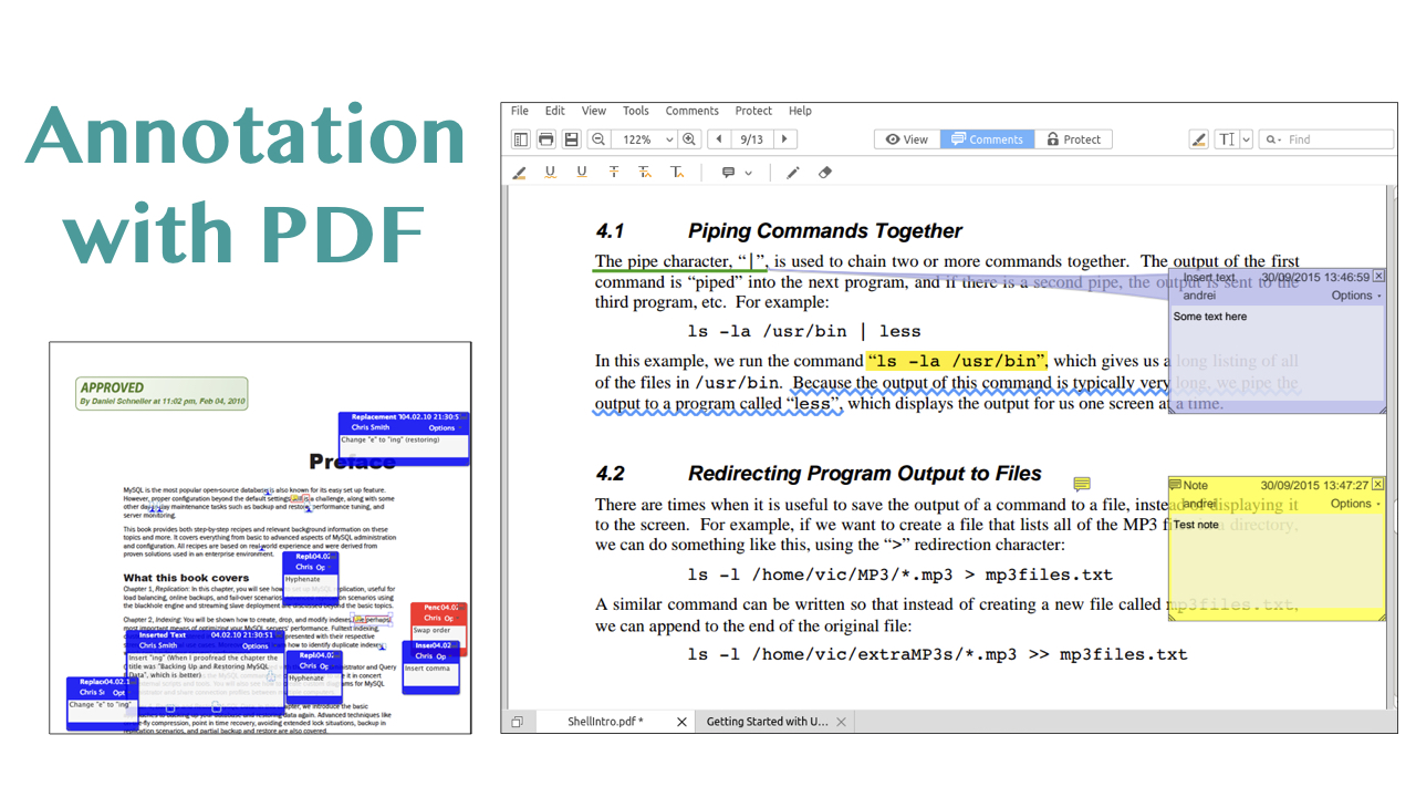 Annotation with the PDF format